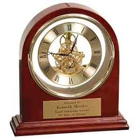 Rosewood Grand Piano Arch Clock Business Gifts