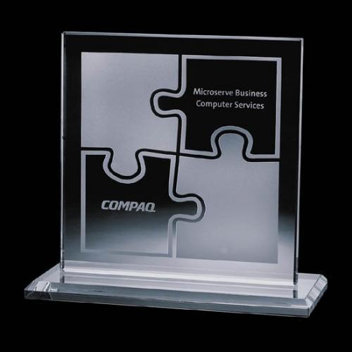 Sahara Crystal Square Award with Marble Base