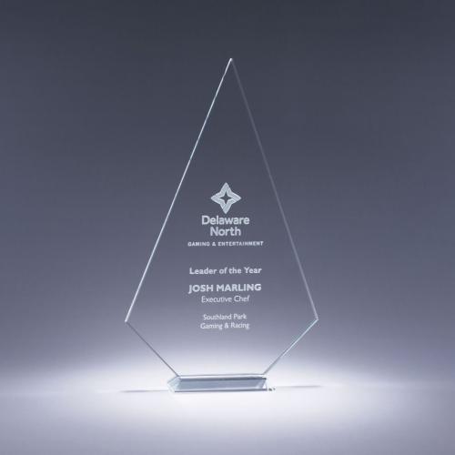 Prosperity Clear Optical Crystal Diamond Award