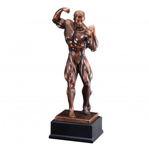 Men's Bodybuilding Resin Award on Black Base