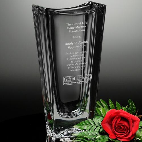 Capri Optical Crystal Rectangle Award