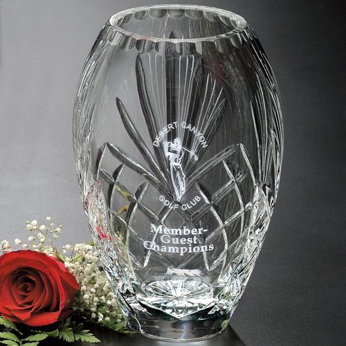 Durham Optical Crystal Barrel Led Vase