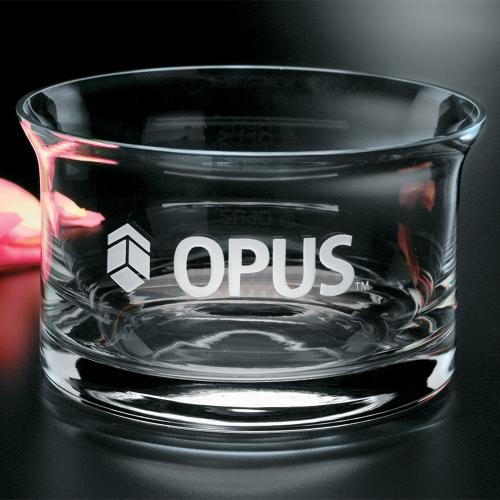 Flair Clear Optical Crystal Bowl for Engraved Gift