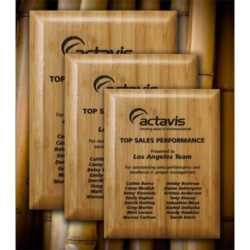 Bamboo Rectangle Laser Engraved Plaque