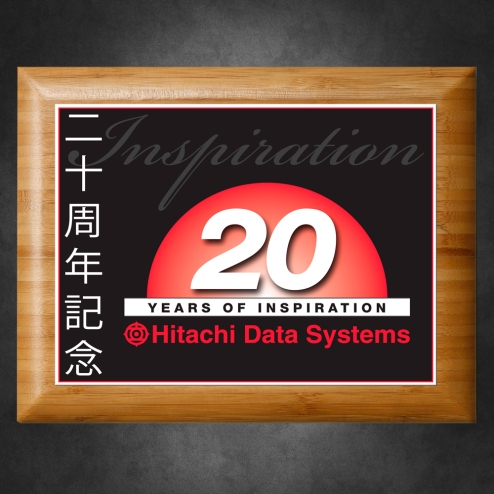 Sustainable Bamboo Horizontal Plaque with Sublimated Plate