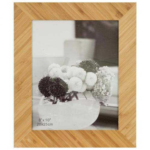 Angled Rectangle Bamboo Picture Frame