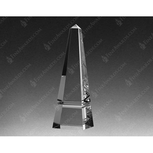Crystal Master Obelisk Award w/Base